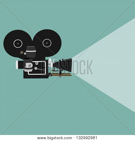 450x470 Vintage Clipart Movie Projector