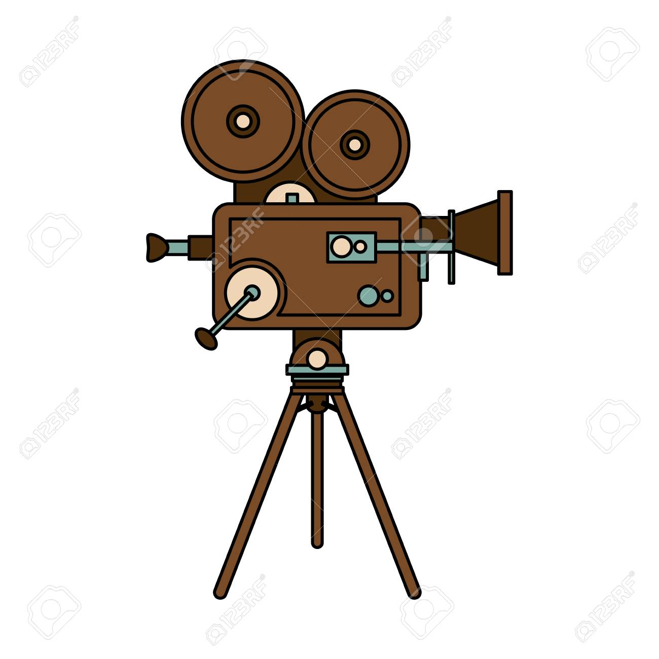 1300x1300 Vintage Clipart Movie Projector