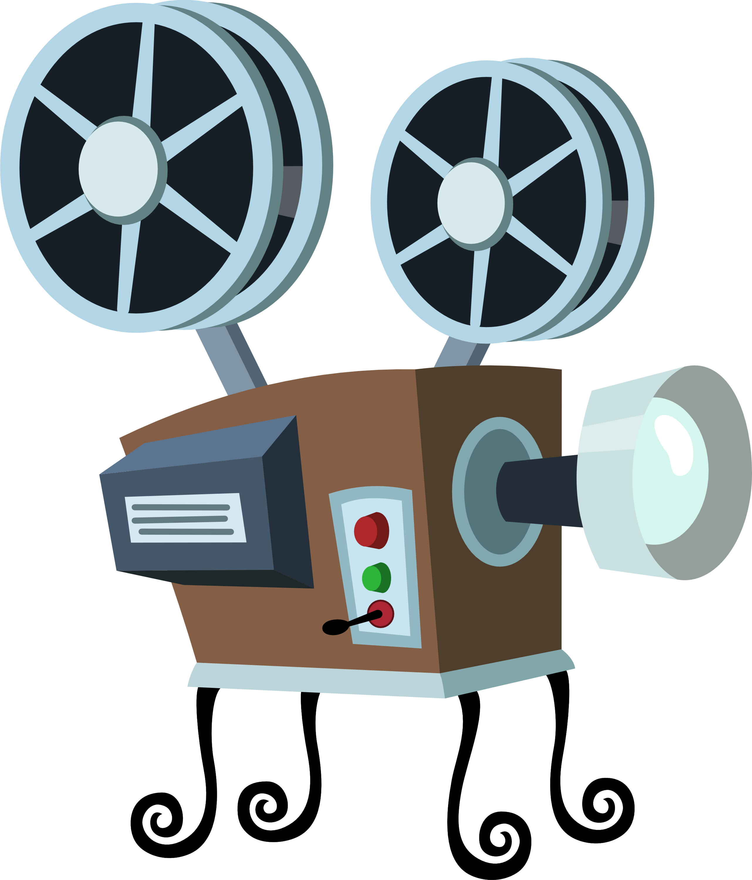 2563x3000 Vintage Clipart Movie Projector
