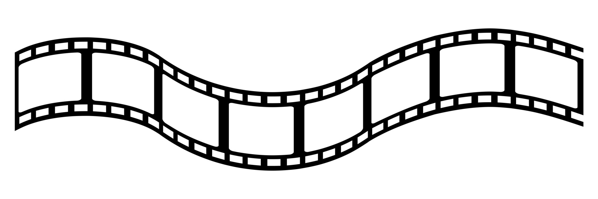 1920x640 Film Strip Movie Reel Vector Clipart
