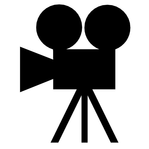 500x500 Movie Reel Vector Clipart
