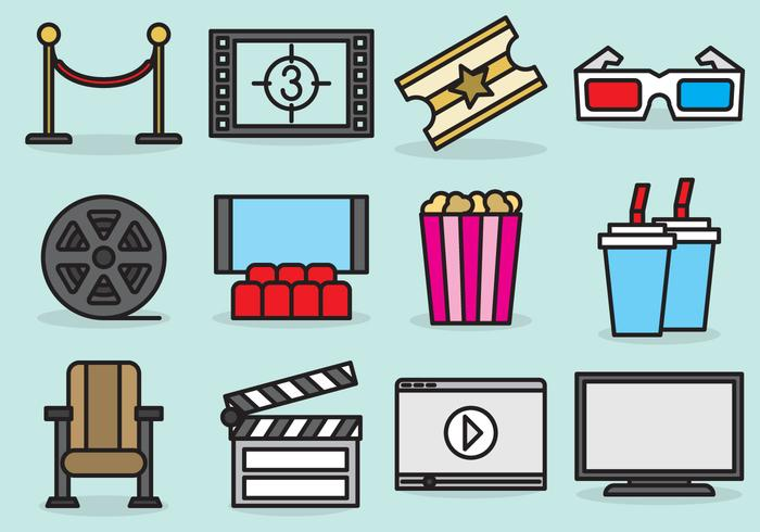 700x490 Cute Movie Theater Icons