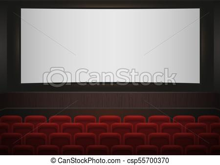 450x338 Interior Of A Cinema Movie Theatre. Red Cinema Or Theater