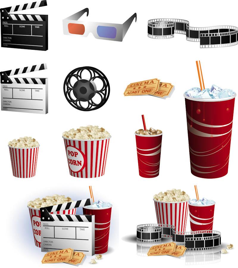 800x900 Movie Theater Vector