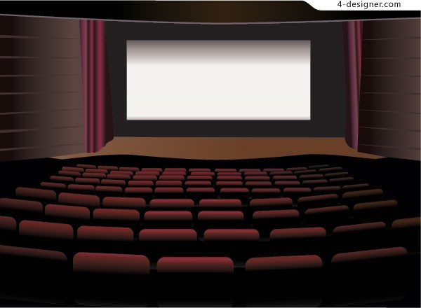 600x440 4 Designer Cinema Vector Material