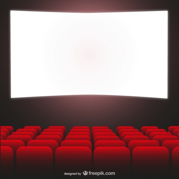626x626 Movie Theater Red Seats And Cimena Screen Vector Free Download