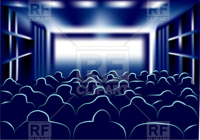 400x281 Abstract Movie Theater Vector Image Vector Artwork Of Sport And