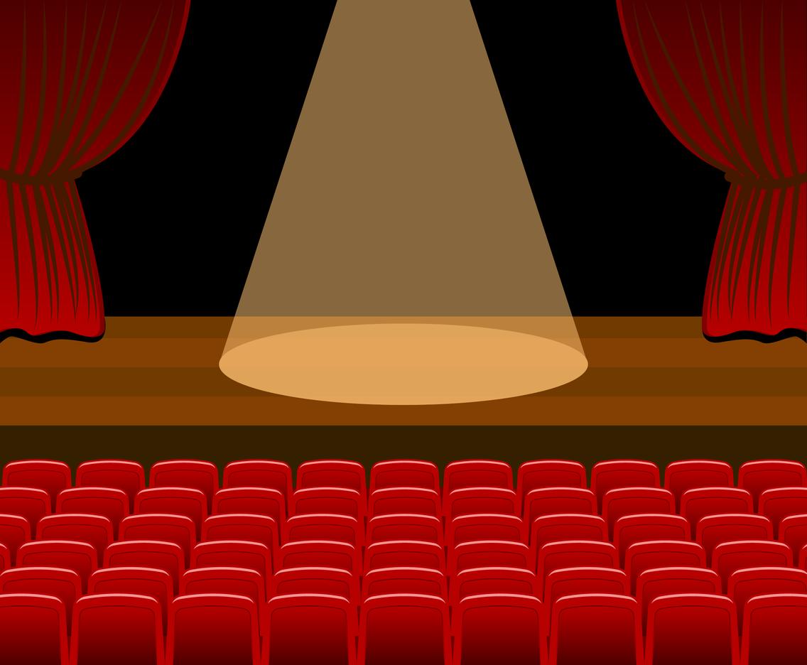 1136x936 Theatre Stage Vector Vector Art Amp Graphics
