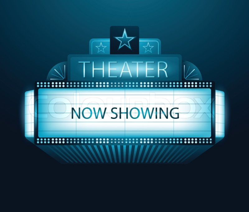800x683 Vector Now Showing Movie Theater Banner Stock Vector Colourbox