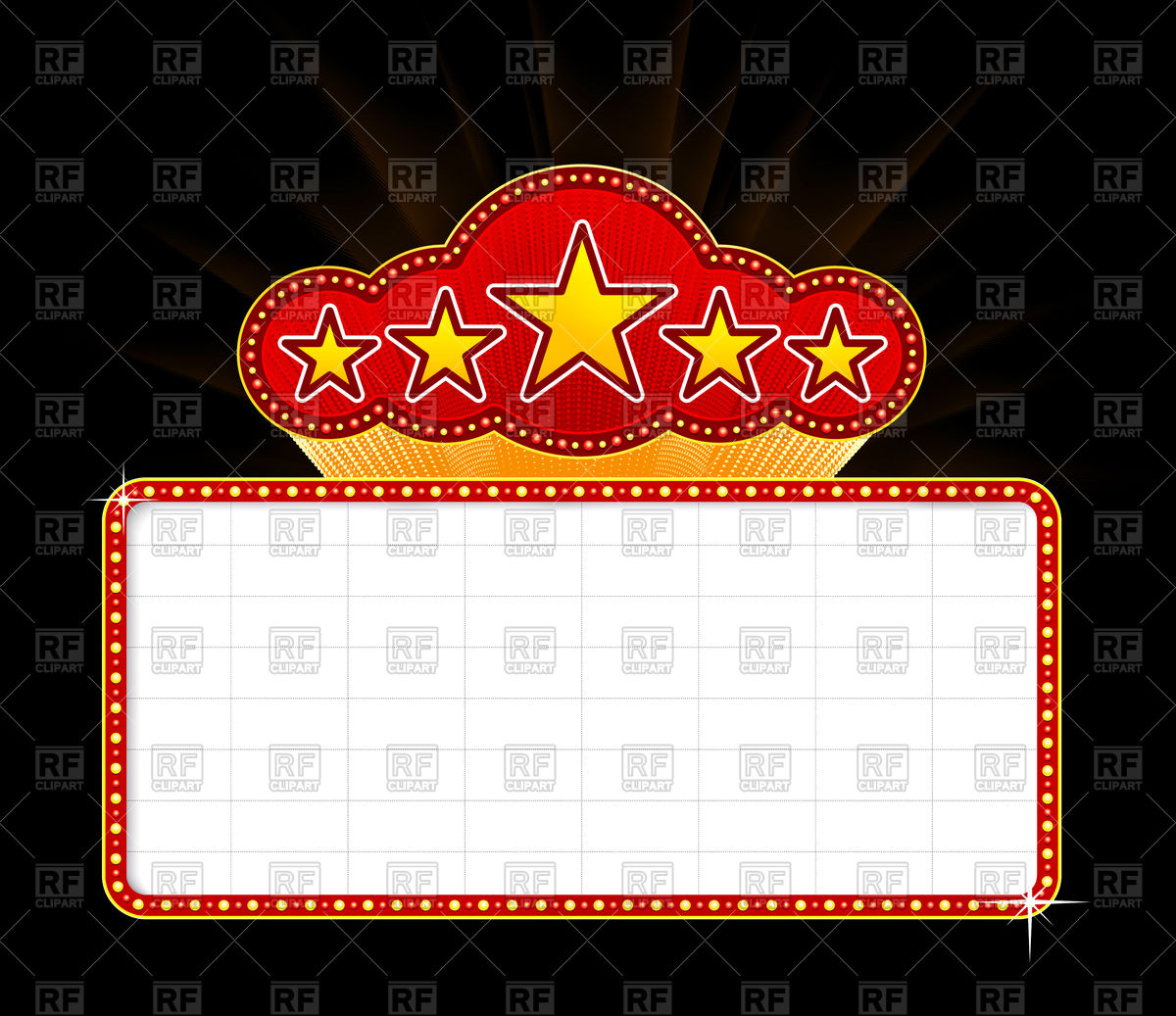 1200x1037 Blank Movie, Theater Or Casino Marquee Vector Image Vector