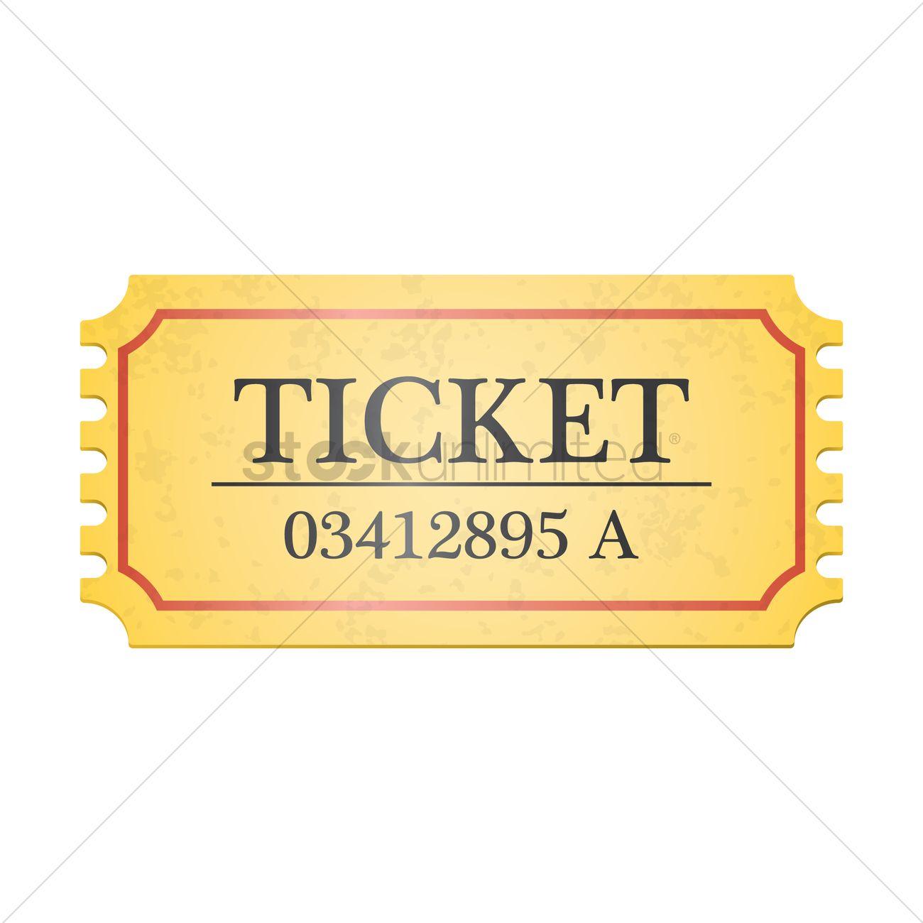1300x1300 Movie Ticket Vector Image