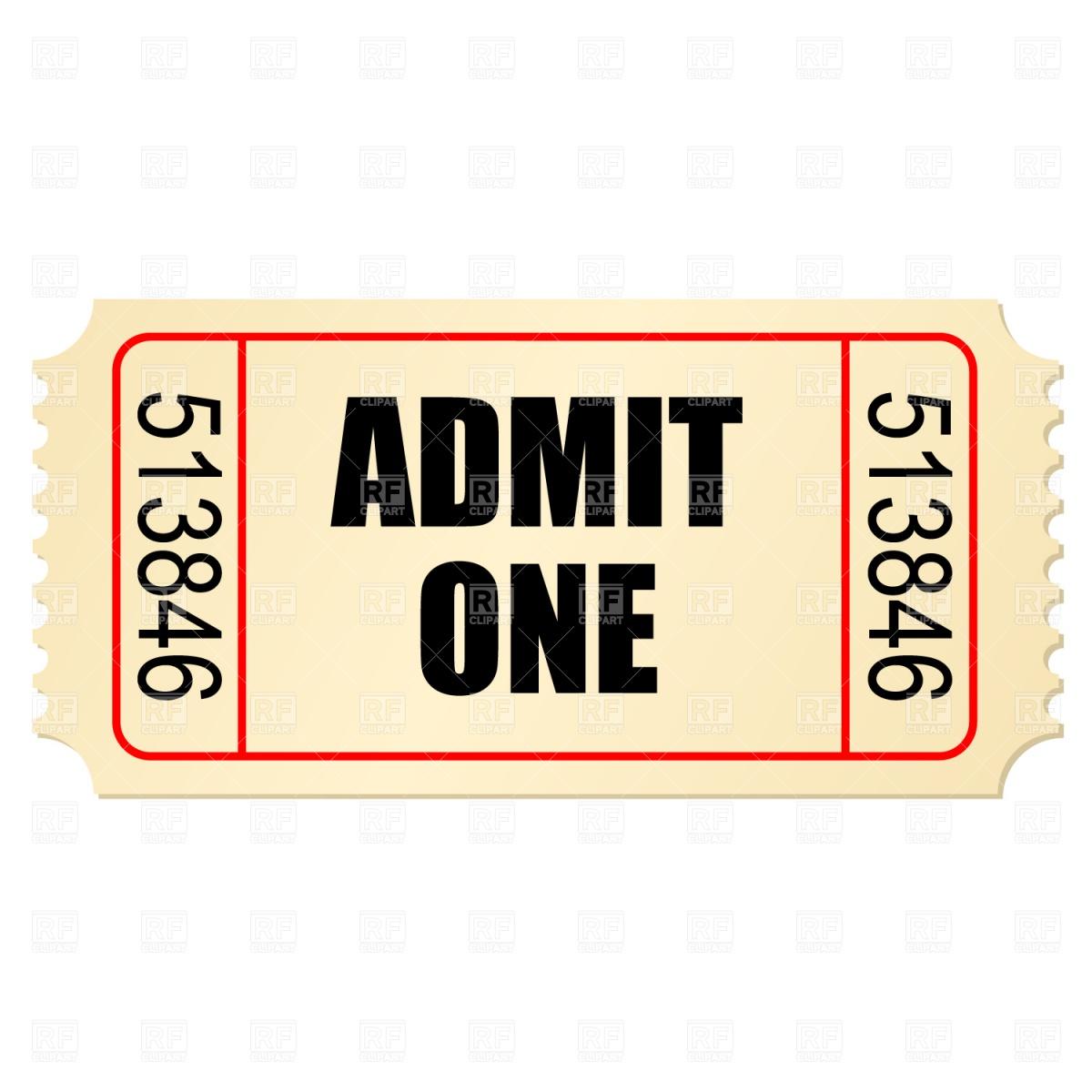 1200x1200 Movie Ticket Stub Vector Image Vector Artwork Of Signs, Symbols