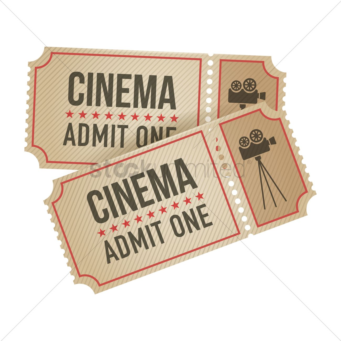 1300x1300 Cinema Ticket Vector Image