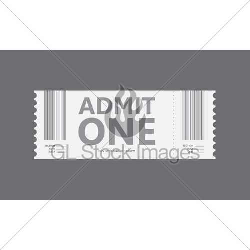 500x500 Special Movie Ticket, Vector Design, Eps10 Gl Stock Images