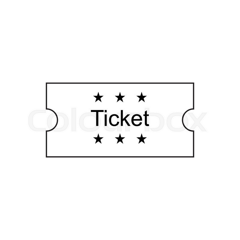 800x800 Ticket Icon In The Outline Style. Ticket Vector Illustration