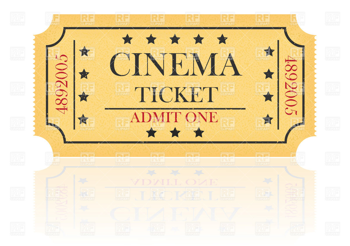 1200x843 Yellow Cinema Ticket Vector Image Vector Artwork Of Objects