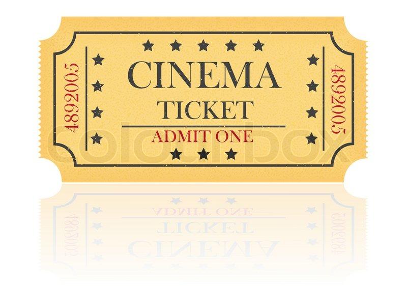 800x562 Cinema Ticket Vector Illustration Isolated On White Background