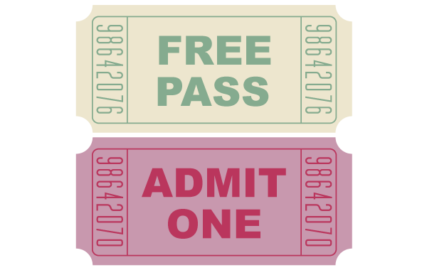600x380 Free Free Vector Movie Tickets Psd Files, Vectors Amp Graphics