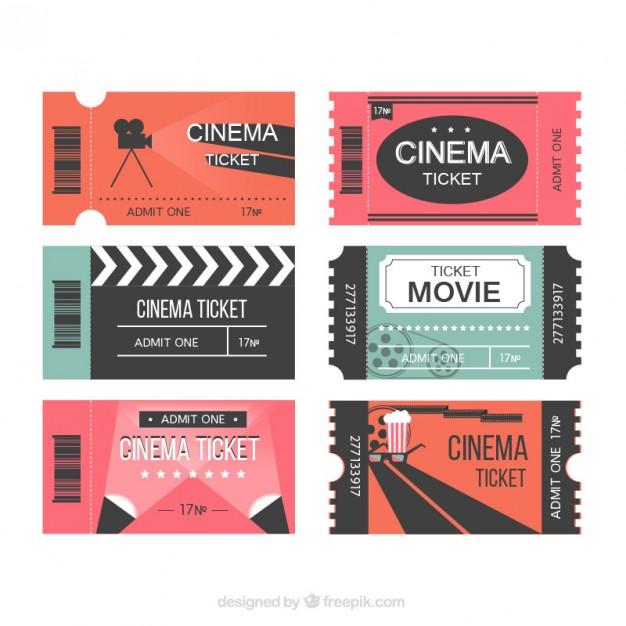 626x626 Modern Movie Tickets Vector Free Download