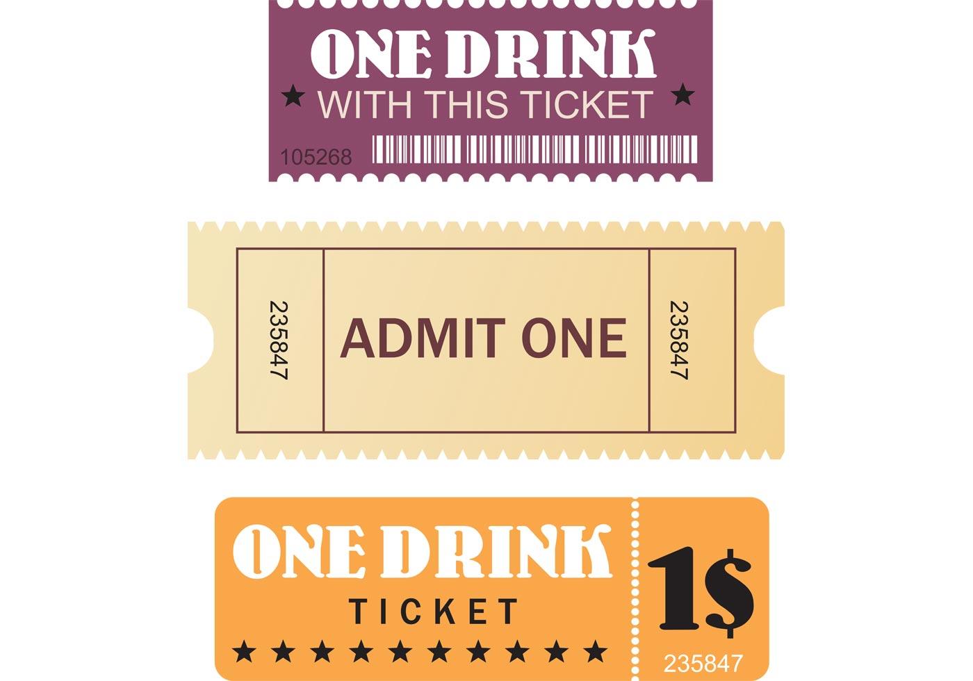 1400x980 Movie Ticket Free Vector Art