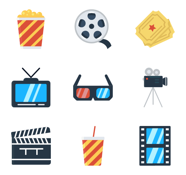 600x564 Collection Of Free Movie Vector Flat. Download On Ubisafe