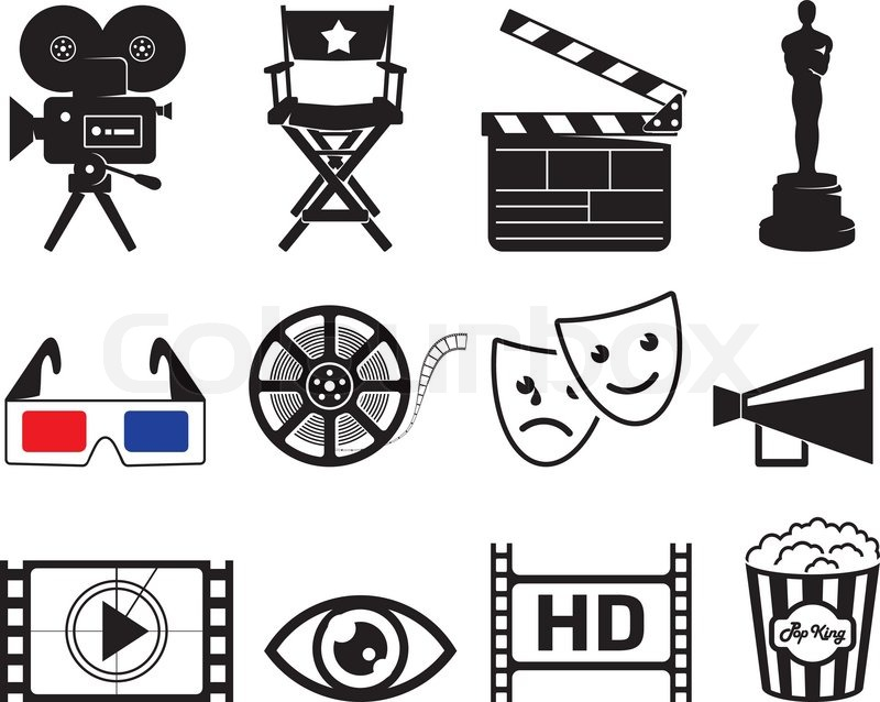 800x638 Movie Industry Icons Stock Vector Colourbox