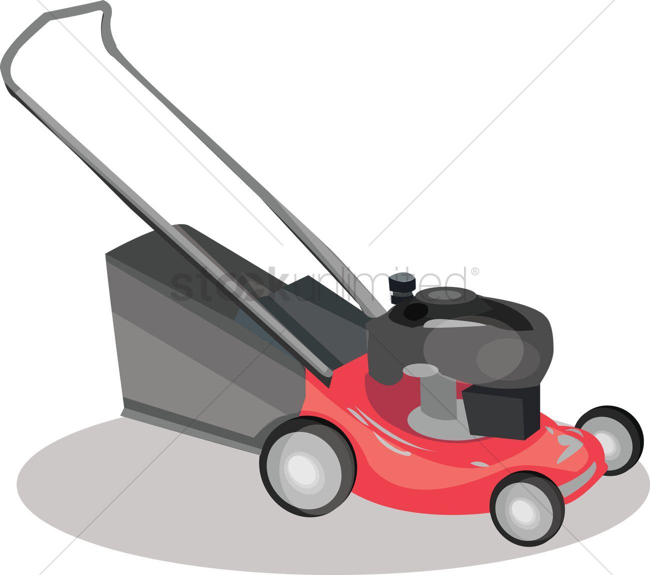1300x1150 Lawn Mower Vector Image