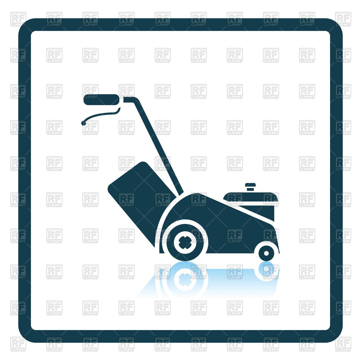 1200x1200 Lawn Mower Icon Vector Image Vector Artwork Of Signs, Symbols