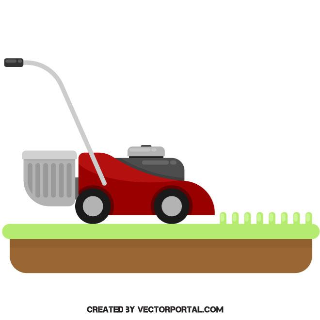 660x660 Lawn Mower Vector Image
