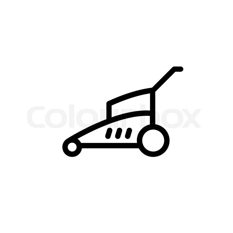 800x800 Lawn Mower.vector Illustration. Stock Vector Colourbox