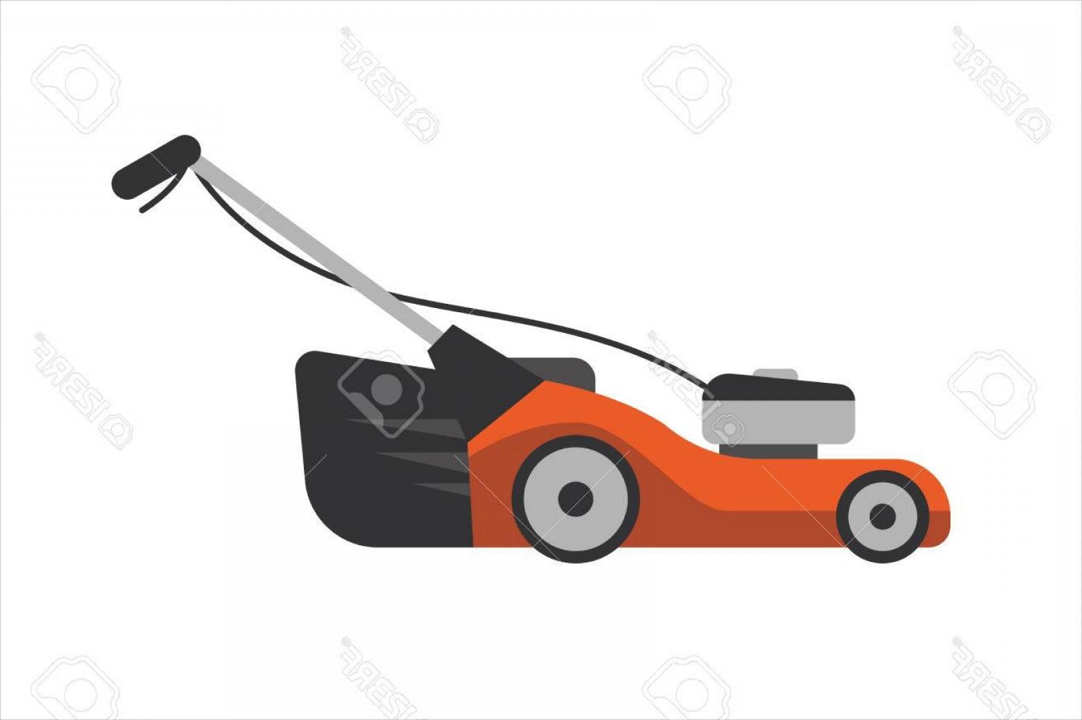 1560x1038 Photostock Vector Lawn Mower Vector Illustration Gardener