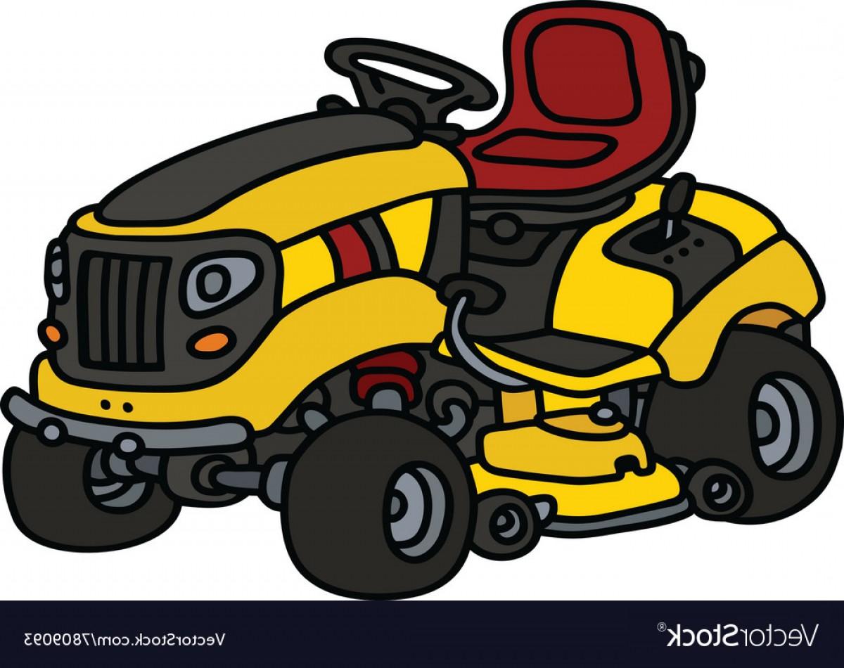 1200x950 Yellow Garden Lawn Mower Vector Lazttweet