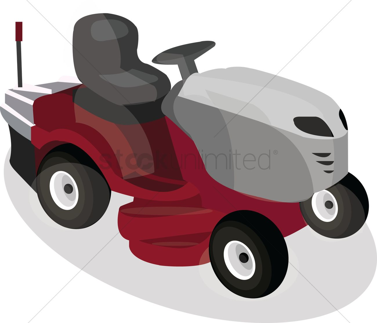 1300x1115 Free Lawn Mower Vector Image