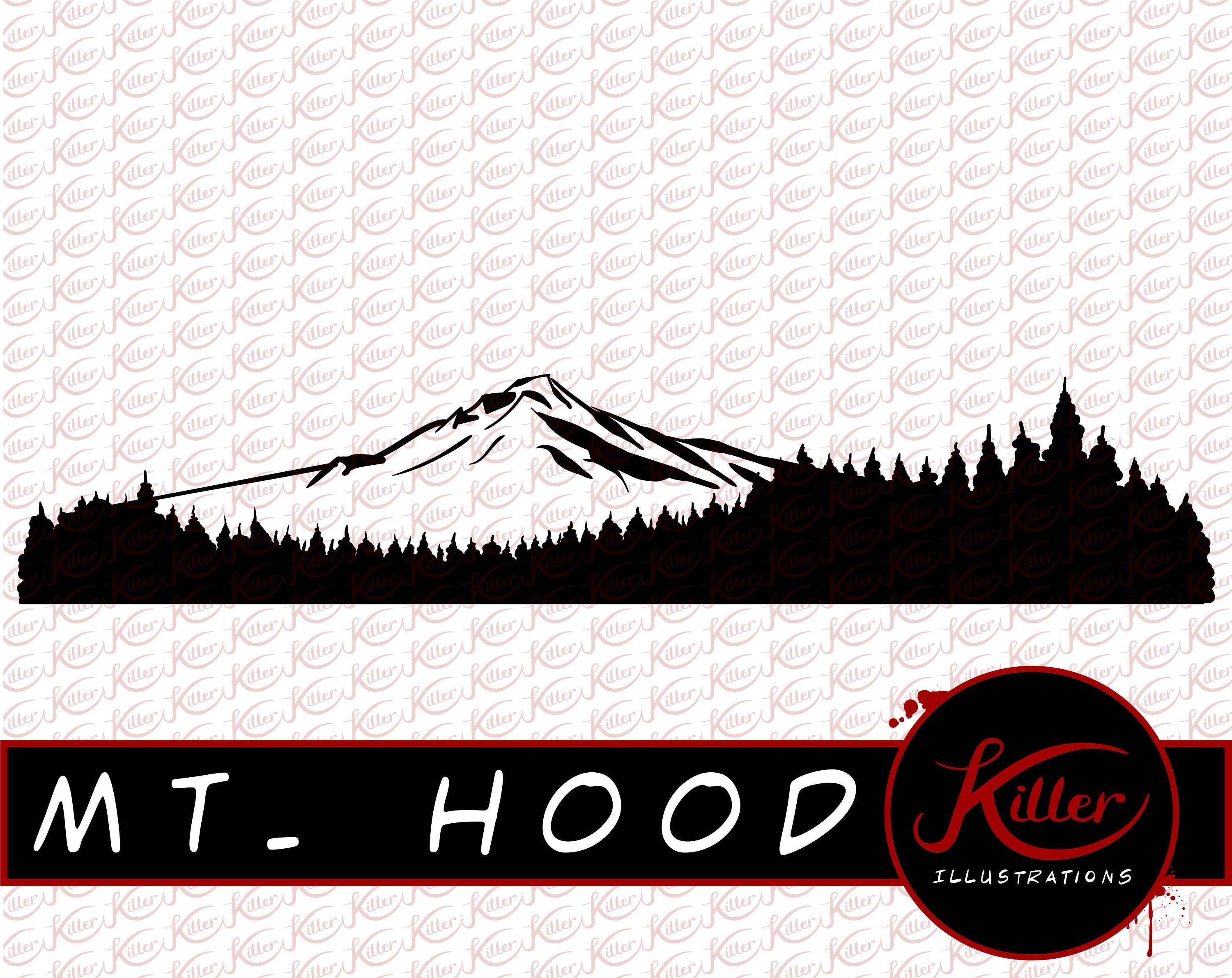 3000x2382 Mountain Vector Mt Hood Clip Art Oregon Cut File Instant Etsy