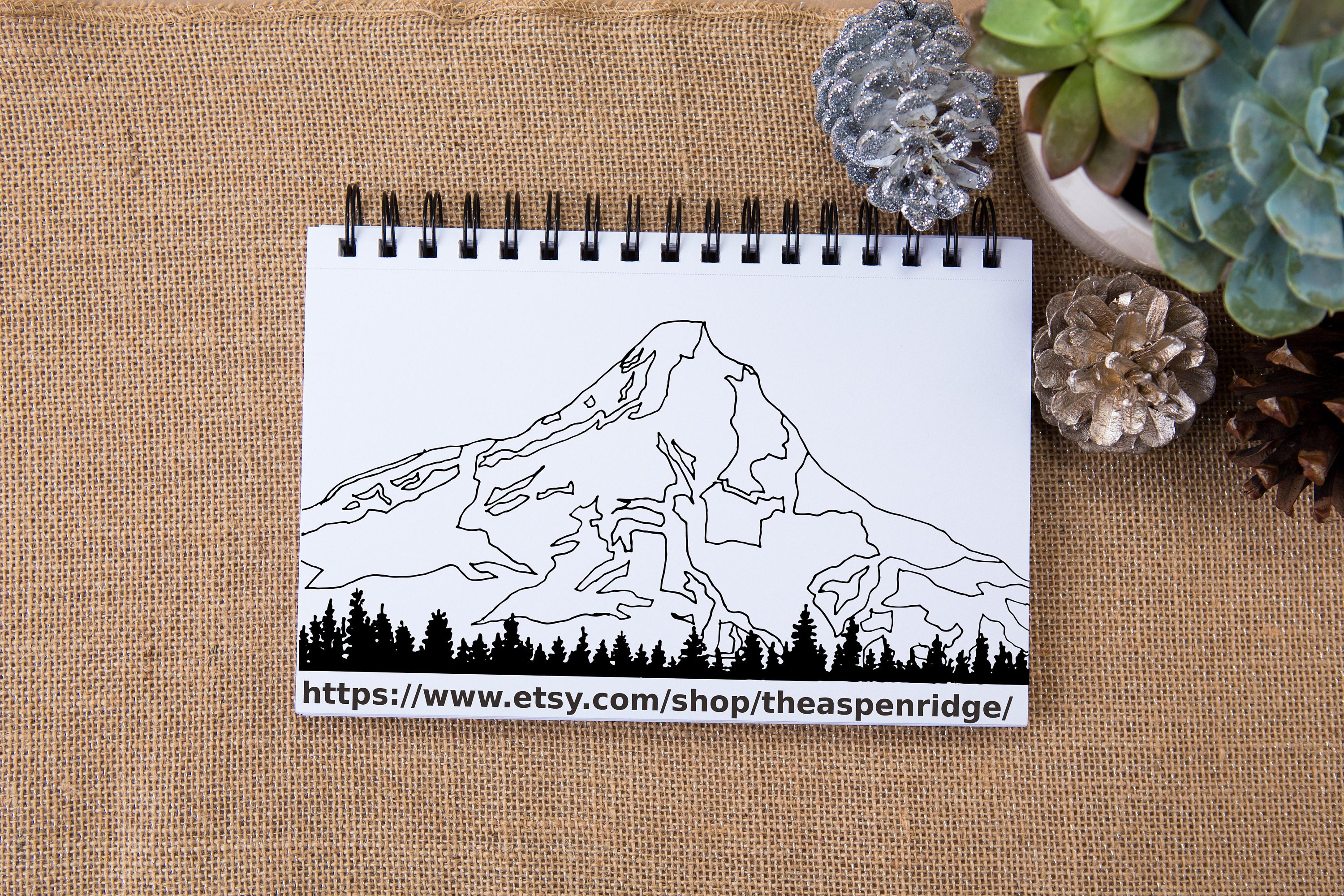 3000x2000 Mt. Hood Ii Digital Instant Download Vector Clip Art Oregon Etsy