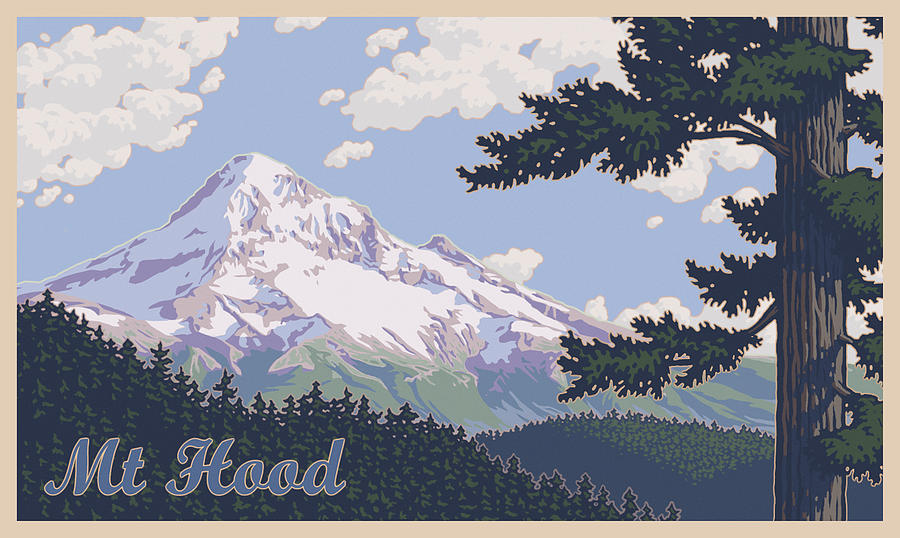 900x538 Retro Mount Hood Photograph By Mitch Frey
