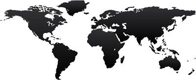 400x163 Mapa Del Mundo En Vector (World Vector Map) Recursos