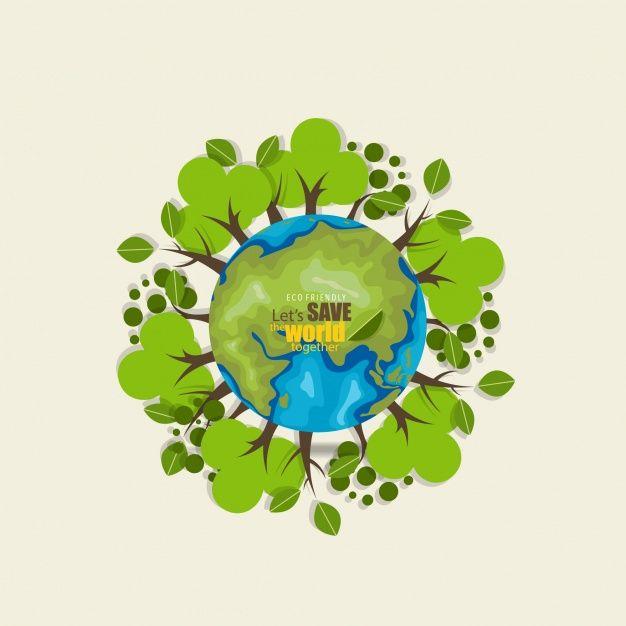 626x626 Salva El Mundo Fondo Con Arboles Vector Gratis Paper Ideas