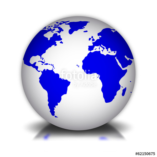 500x500 Bola Del Mundo 3d 2 Stock Image And Royalty Free Vector Files On