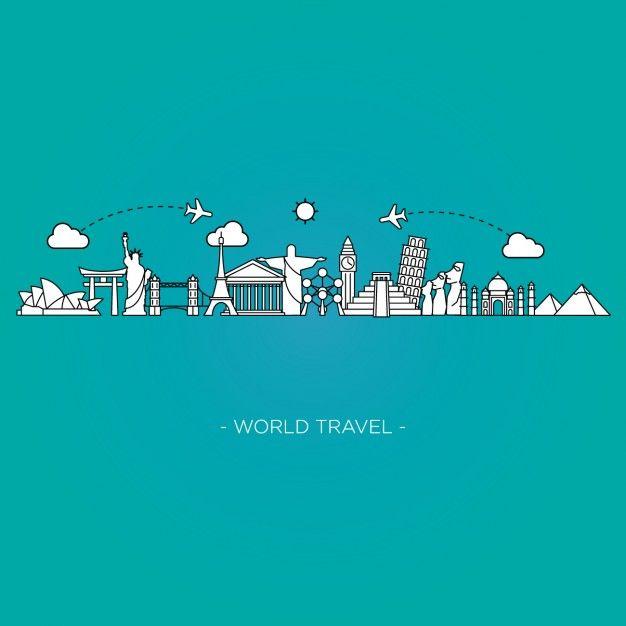 626x626 Fondo De Viajes Por El Mundo Vector Gratis Fondos