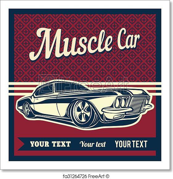 b089231b3 561x581 Free Art Print Of Muscle Car Vector. Muscle Car Freeart Fa31264726