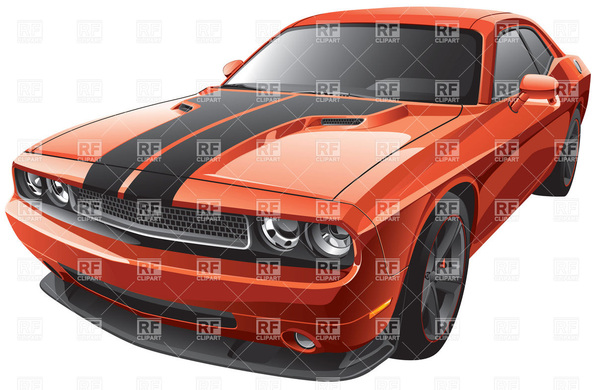 1200x787 Modern Muscle Car Vector Image Vector Artwork Of Transportation