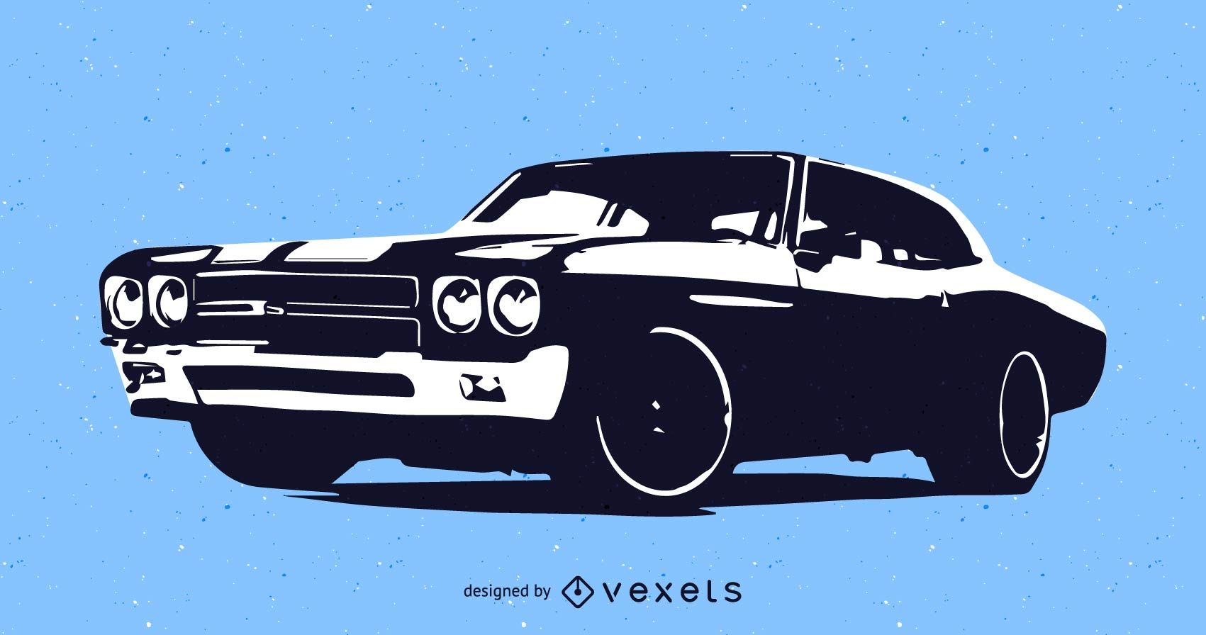 1701x896 Muscle Car Vector Graphic