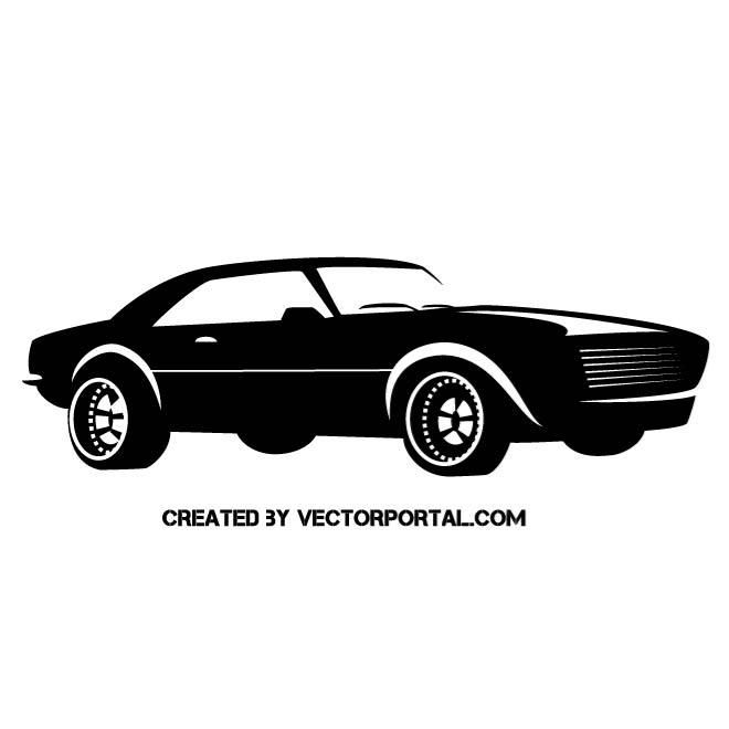 660x660 Muscle Car Vector Silhouette. Vehicles Free Vectors