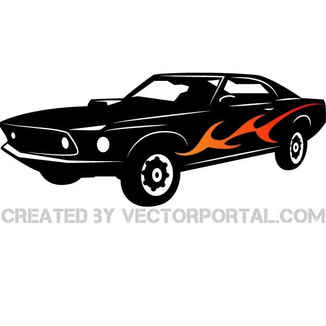 660x660 American Muscle Car Vector Illustration. Vehicles Free Vectors