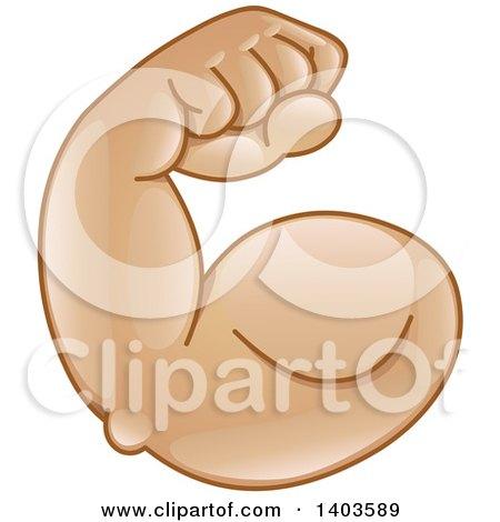 450x470 Clipart Of A Cartoon Emoji Arm Flexing Its Muscles