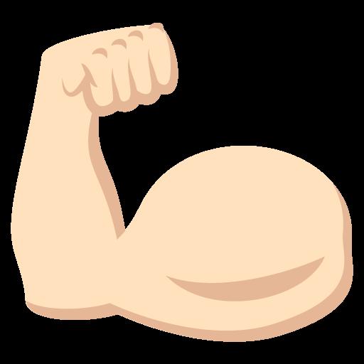 512x512 Flexed Biceps Light Skin Tone Emoji Emoticon Vector Icon Free