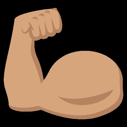 512x512 Flexed Biceps Medium Skin Tone Emoji Emoticon Vector Icon Free