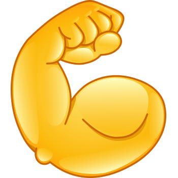 350x350 Big Muscle Facebook Symbols Miscellaneous, Cool