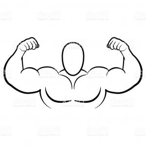 300x300 Bodybuilder Muscle Flex Arms Vector Illustration Strong Macho